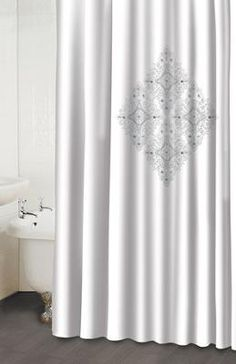 Jewel White Shower Curtain