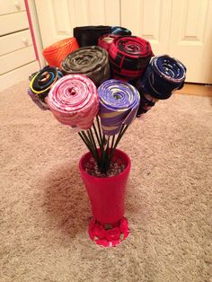 Necktie Bouquet! Great gift for a male teacher from class!