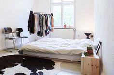 Throw in a cowhide rug for that trademark Scandinavian look - Decoist