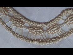 Βελονιά/Λασέ/Tutorial #27 - YouTube Irish Crochet Patterns, Crochet Basket Pattern, Tatting Patterns, Lace Patterns, Crochet Cord, Crochet Lace, Crochet Stitches, Romanian Lace, Lace Art