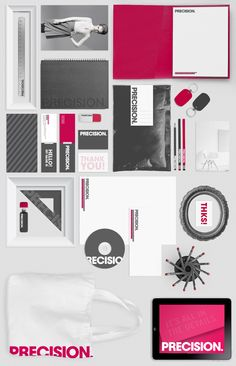 Precision brand identity by Charles Nadler, via Behance