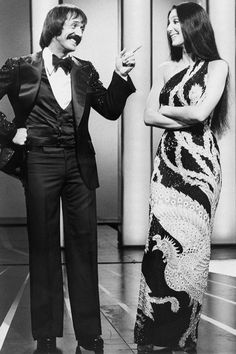 Husband-and-wife-team Sonny Bono and Cher joke together on their program, 'The Sonny and Cher Comedy Hour'. Get premium, high resolution news photos at Getty Images The Cher Show, Cher Photos, Nostalgia, I Got You Babe, Cher Bono, Snap Out Of It, Idole, Bob Mackie, Grave Memorials