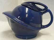 RED WING POTTERY DARK BLUE SATURN TEA POT
