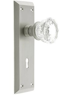 New York Mortise Lock Set With Fluted Crystal Door Knobs | House Of Antique  Hardware