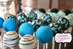 Turquoise cake pops  www.facebook.com/cakepoppin