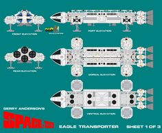 Gerry Andersons Space 1999 Eagle Transporter 1 by ArthurTwosheds.deviantart.com on @deviantART
