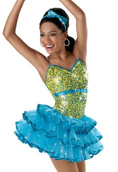 Sequin Dress with Layered Skirt; Weissman Costumes