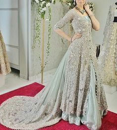Indian Pakistani Bridal Anarkali Suits & Gowns Collection Wedding Fancy Anarkali suits for Asian brides in best designs and styles. Asian Wedding Dress, Pakistani Wedding Outfits, Pakistani Wedding Dresses, Bridal Outfits, Indian Dresses, Indian Outfits, Net Gowns Pakistani, Indian Wedding Gowns, Pakistani Clothing