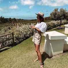 LAURA NOLTEMEYER (@designdschungel) • Instagram-Fotos und -Videos Wine O Clock, Summer Blouses, Office Looks, Wine Tasting, Panama Hat, Instagram, Beautiful, Outfits, Safari