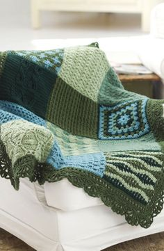 [Free Crochet Pattern] This Gorgeous Sampler Afghan Is The Perfect Learn-To-Crochet Project