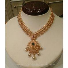 Latest Model 22K Gold Necklace 2016, Gold Short Necklace Designs 2016, Gold Short Necklace Collections 2016.