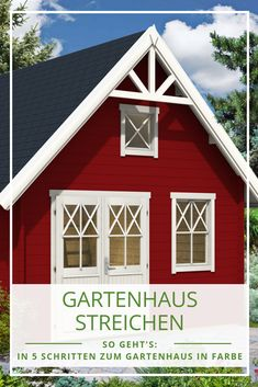 Swedish red & stylish: the most beautiful Swedish garden houses Living Room Decor, Bedroom Decor, House 2, Other Rooms, Exterior Paint, Home Depot, Bungalow, Beautiful Homes, Shed
