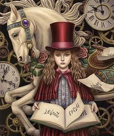 Clock Hourglass Time:  Artwork by Shiori Matsumoto.