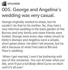 Angelina Johnson, Harry Potter, hp,George Weasley That's just sad Harry Potter Tumblr Posts, Harry Potter Feels, Harry Potter Marauders, Harry Potter Jokes, Harry Potter Universal, Harry Potter Fandom, Harry Potter World, Facts About Harry Potter, Headcanon Harry Potter
