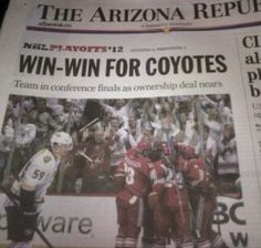 Phoenix Coyotes clench division finals