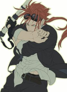 Reno From FF7 - Loose white shirt -Sports Coat -Welding goggles -Baton -Love this pose
