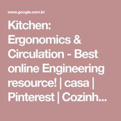 Kitchen: Ergonomics & Circulation - Best online Engineering resource! | casa | Pinterest | Cozinhas pequenas, Marcenaria e Detalhes