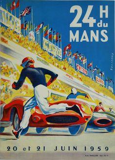Original+vintage+poster+24+heures+du+mans+1959+-+Michel+BELIGOND