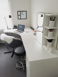 20 Home Office Ideas (Modern Style and Comfortable) - Pandriva : So make sure you design your home office exactly how you want from the perfect colors, . See more ideas about Desk, Home office decor and Home Office Ideas. Ikea Office, Home Office Space, Home Office Design, Home Office Decor, Home Decor, Office Ideas, Office Designs, Office Setup, Office Furniture