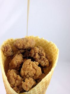 The Chicken and Waffle Cone check out our grain free dog treats. Www.boneyardbakery.net