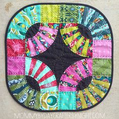 Mini Quilt | Kaffe Fassett Pickle Dish by Ashley | Mommy by Day Crafter by Night