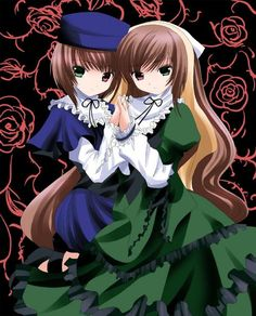 Rozen Maiden. Suiseiseki and Souseiseki. The twins, the AWESOME twins.
