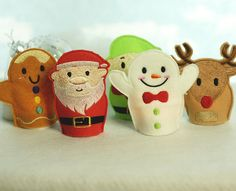 Light up the holidays with this amazing set of 5 in the hoop tea light covers. Each of these super e