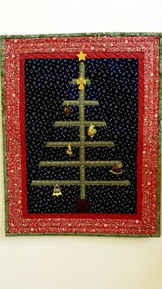 QUILTED CHRISTMAS TREE slightly imperfect Charlie by AuntiJoJos