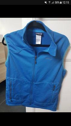 Veste Patagonia R1 - Veste homme Patagonia Sans manches Modèle R1 Bleu 2 poches zippees à l'avant Excellent état #patagonia #vester1 #R1 #vestepatagonia #patagoniahomme #vestesansmanche
