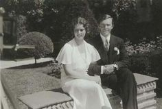 1932 The engagement of Princess Sibylla of Saxe-Coburg-Gotha and Crown Prince Gustaf Adolf of Sweden