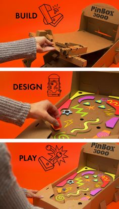 Build and design a working pinball machine! The PinBox 3000 comes with 2 playboards that you design yourself and can interchange for 2 different gaming experiences. No batteries or tools required. BONUS: Connect 2 core systems together and flip the marbles between them for a PinBox 3000 battle!