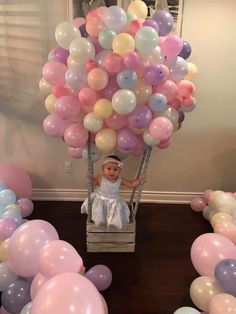 Bohemian Birthday Party, 1st Birthday Party For Girls, Birthday Party Tables, Baby First Birthday, Baby Party, Birthday Room Decorations, Birthday Balloon Decorations, Mermaid Party Decorations, Birthday Balloons