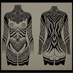 Full Body Tattoo, Body Art Tattoos, Girl Tattoos, Tatoos, Rip Tattoo, Dot Work Tattoo, Arm Band Tattoo, Ornament Drawing, Octopus Tattoos