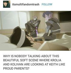 I THOUGHT FOR A QUICK MOMENT THAT THEY ALL DIED AND I WAS SO RELIEVED THAT THEY WEREN'T AND I WAS SO HAPPY THAT THEY ALL HAD PEOPLE WITH THEM Voltron Memes, Voltron Fanart, Voltron Ships, Form Voltron, Voltron Klance, Boi, Fanfiction, Parents, Paladin