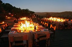 At Bushmans Kloof, your #wedding guests enjoy the reception dinner by candlelight at Embers, one of the most romantic venues at the lodge. #hotels