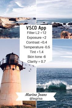 Beautiful Vsco Filters For The Ocean Photography Check It Photography Filters, Types Of Photography, Ocean Photography, Photography Editing, School Photography, Photography Lighting, Photography Classes, London Photography, Glamour Photography