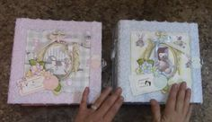 PART 2  TUTORIAL  8 X 8 BABY ALBUM BOY OR GIRL DESIGNS BY SHELLIE - YouTube