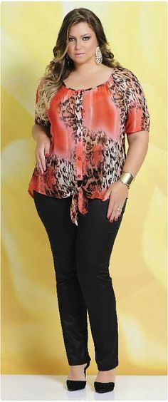 Program Moda Feminina Plus Size, Verão Looks Plus Size, Curvy Plus Size, Plus Size Tops, Plus Size Women, Curvy Fashion, Plus Size Fashion, Girl Fashion, Womens Fashion, Plus Size Dresses