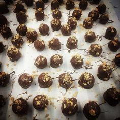 Coco Peanut Butter Truffles in Organic Milk Chocolate. Enjoy x #cocochocolateau #peanutbutter