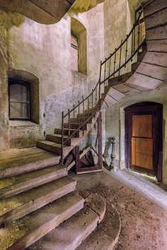 My Photos Of Stairs In Abandoned Buildings That I've Collected Over The Years | Bored Panda
