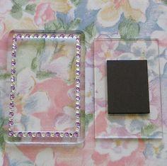 4x Blank Silver Gemstone Acrylic Magnets 81x55mm Frame Size /& 70x45mm Photo Size
