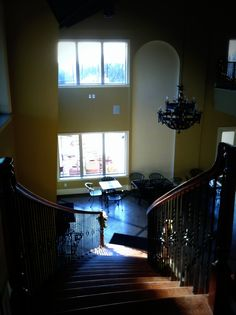 Heading down the grand staircase into Cana Vineyard & Winery's tasting room - Loudoun's newest winery! #vawine
