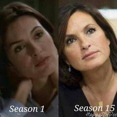Mariska Hargitay- Gorgeous then, gorgeous now- Season 1: 1999-2000, Season 15: 2013-2014