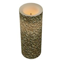 jagged stone golden flameless candle - modern gifts cyo gift ideas personalize