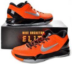 http://www.asneakers4u.com Nike Zoom Kobe 7 Elite Shoes Orange/Black/Gray4