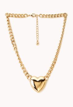 Heartbreaker Curb Chain Necklace | FOREVER21 - 1000051602