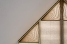 Electric Plisse Pleated Gable Blinds in Crush Topar+ Fabric by Grand Design Blinds