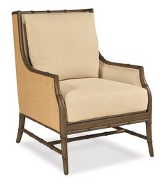 Show Item Snug Room, Outdoor Chairs, Outdoor Furniture, Bamboo Design, Wood Surface, Occasional Chairs, Toss Pillows, Wingback Chair, Seat Cushions