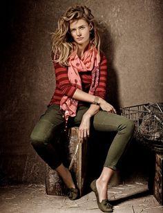 Edita Vilkeviciute is a Denim Babe for Lucky Brand