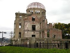 Hiroshima Peace Memorial,  in Hiroshima, Japan, is part of the Hiroshima Peace Memorial Park. The ruin serves as a memorial to the people who were killed in the atomic bombing of Hiroshima on August 6, 1945. Over 70,000 people were killed instantly, and another 70,000 suffered fatal injuries from the radiation.